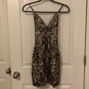 Windsor embellished bodycon dress